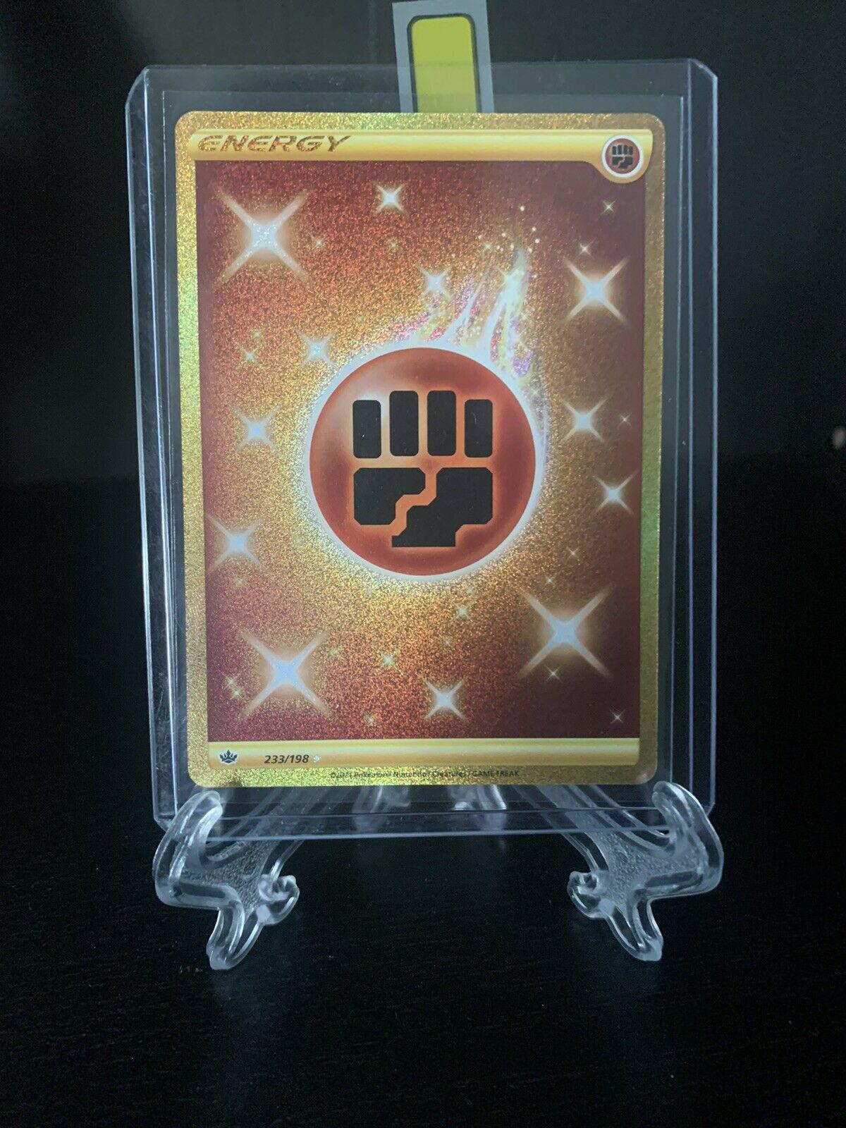 Pokemon TCG Chilling Reign Fighting Energy GOLD SECRET RARE Card 233/198