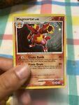 Pokemon Mysterious Treasures Set Magmortar Holo Rare Card 12/123 LP SWIRL
