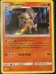 Pokemon Card - Detective Pikachu - 6/18 Arcanine Rare Holo - NM
