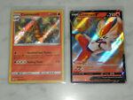 Centiskorch Cinderance V 018 SV019/SV122 Pokémon Shining Fates Shiny Holo Rare