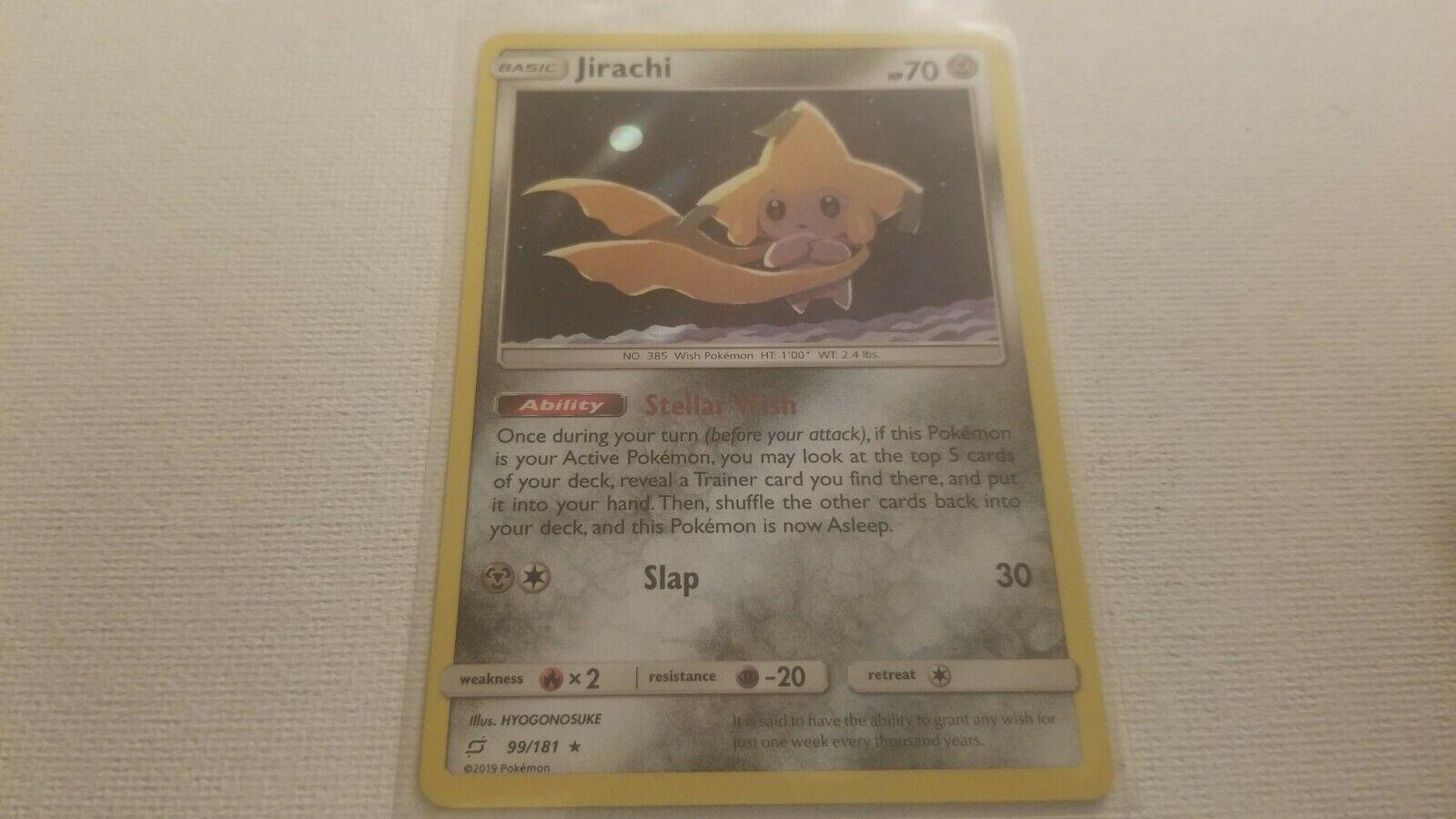   Pokemon Jirachi 99/181 - Stellar Wish Holo Rare - Sun & Moon Team Up