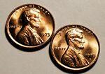 1973 P D LINCOLN MEMORIAL PENNY UNC 2 COIN SET #H4847