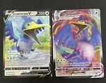 Cramorant V 054/072 and Vmax 055/072 Shining Fates Pokémon Card NM/M