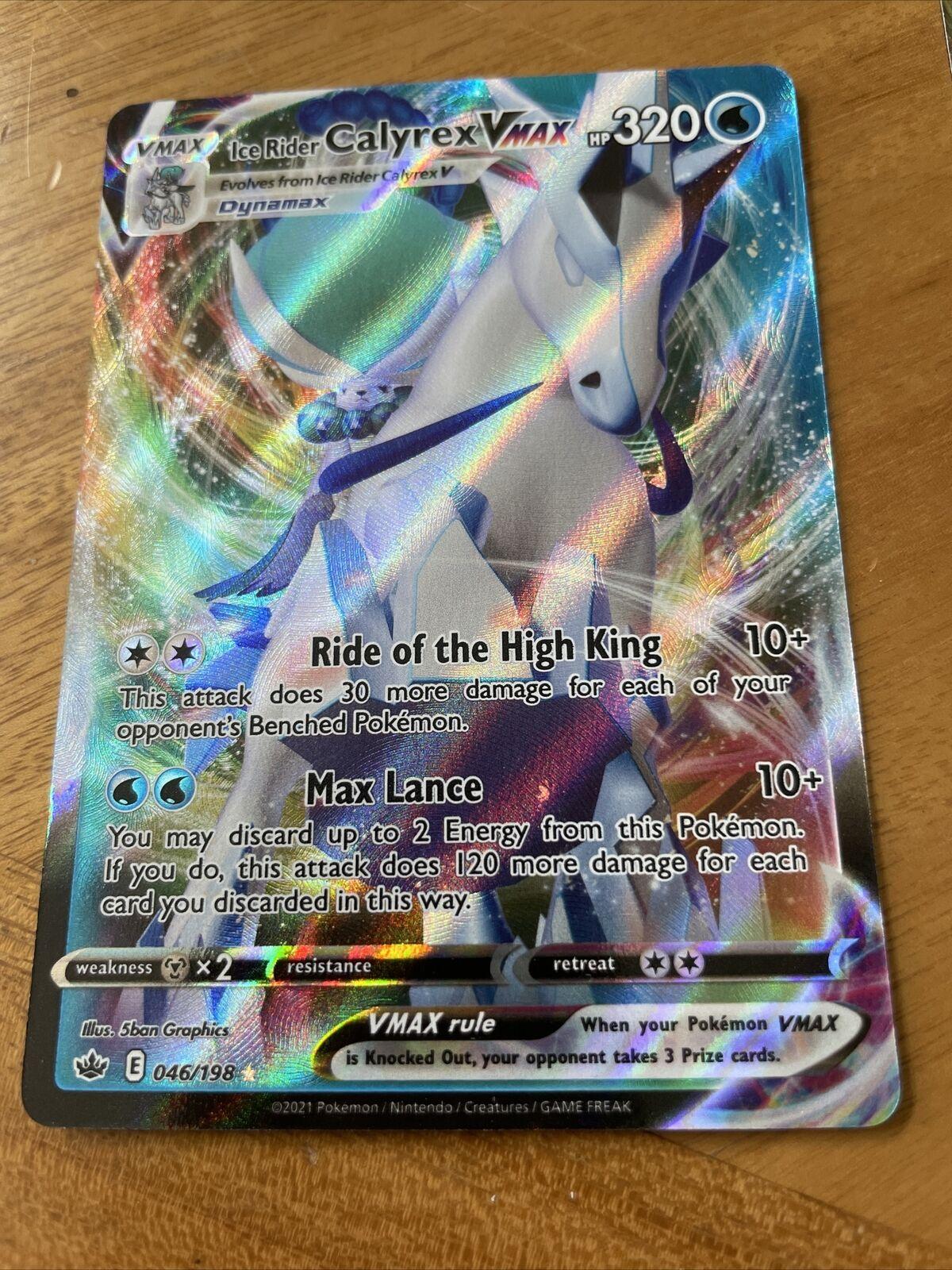 Ice Rider Calyrex Vmax 046/198 Full Art Pokemon Chilling Reign Near Mint