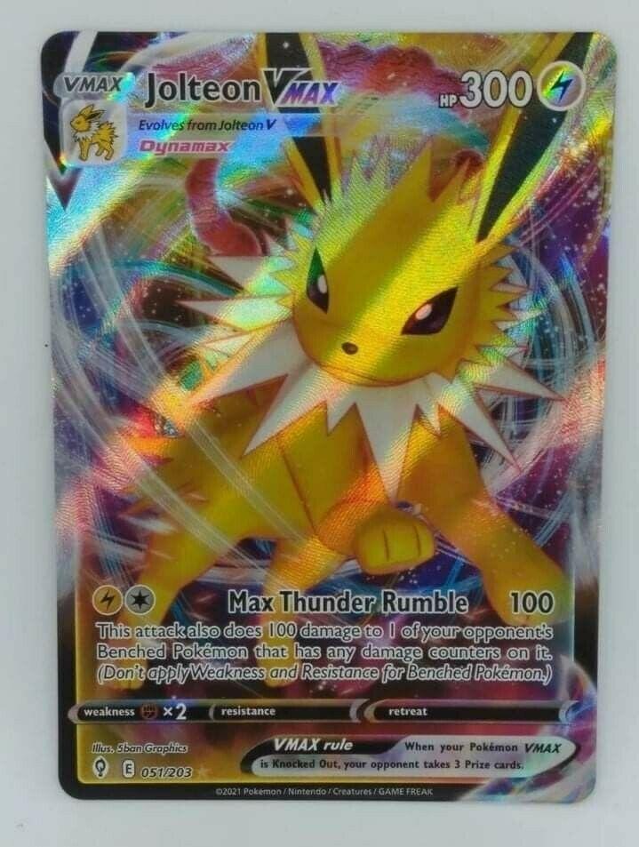 Pokemon TCG - Evolving Skies - Jolteon VMAX - 051/203 - Ultra Rare - NM