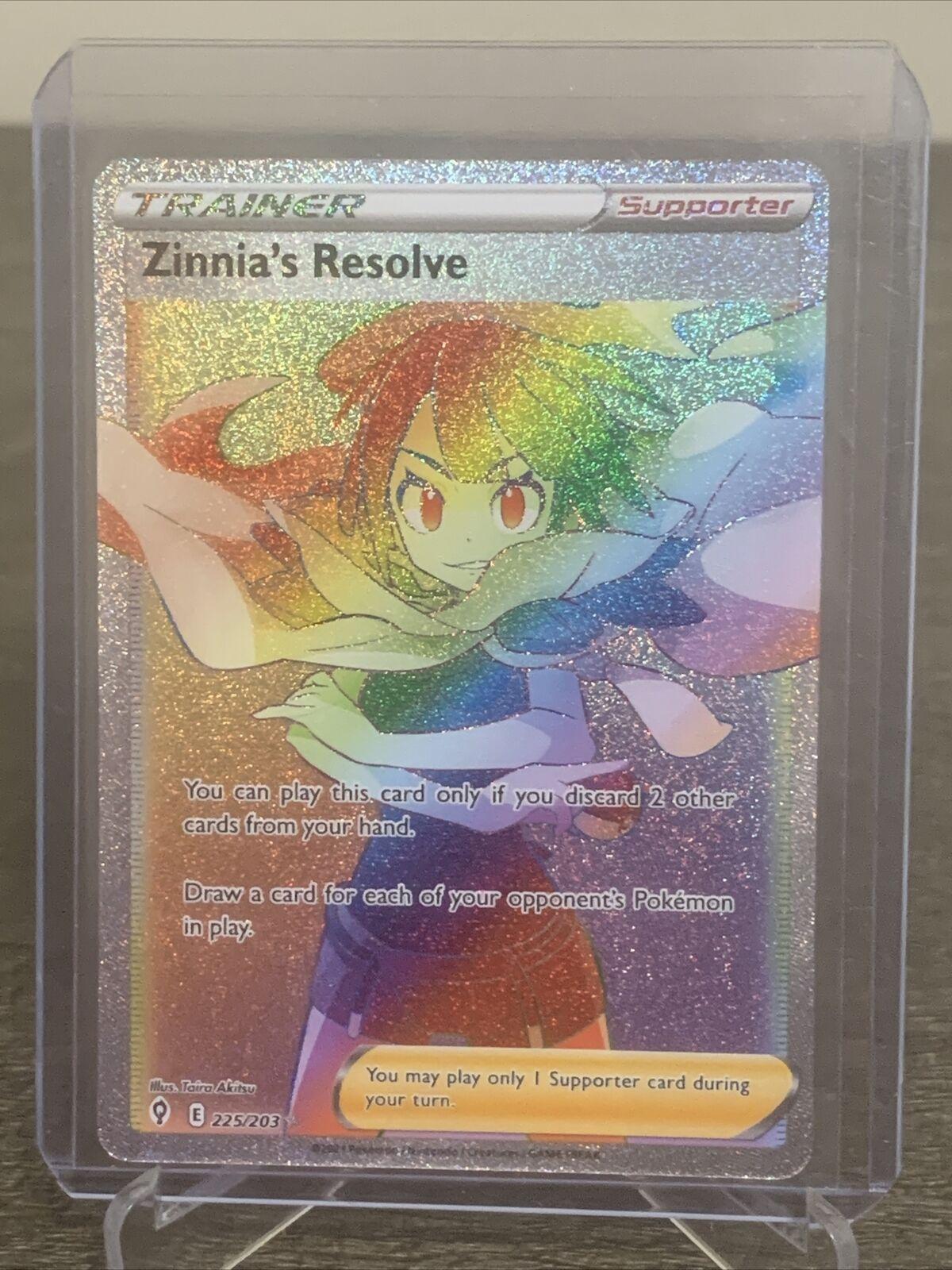 Pokemon Zinnia's Resolve 225/203 Evolving Skies Secret Rare NM/M