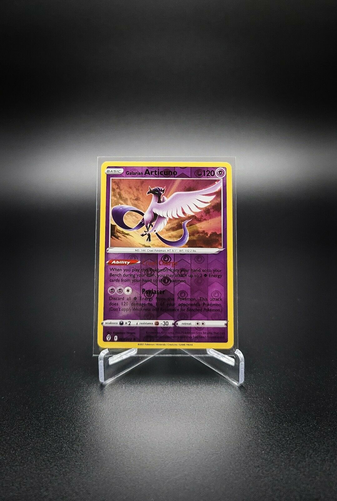 Pokemon - Galarian Articuno - Evolving Skies - 063/203 - reverse holo