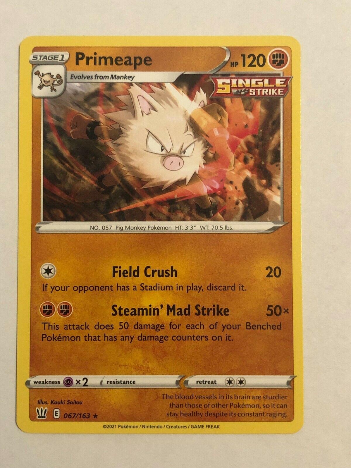 Pokemon Card Battle Styles Primeape 067/163 Near mint
