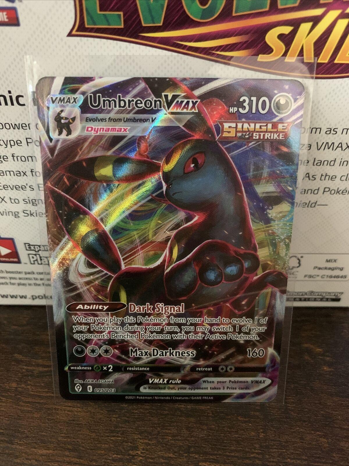 Umbreon VMAX 095/203 Pokémon Evolving Skies Ultra Rare Full Art Holo Mint