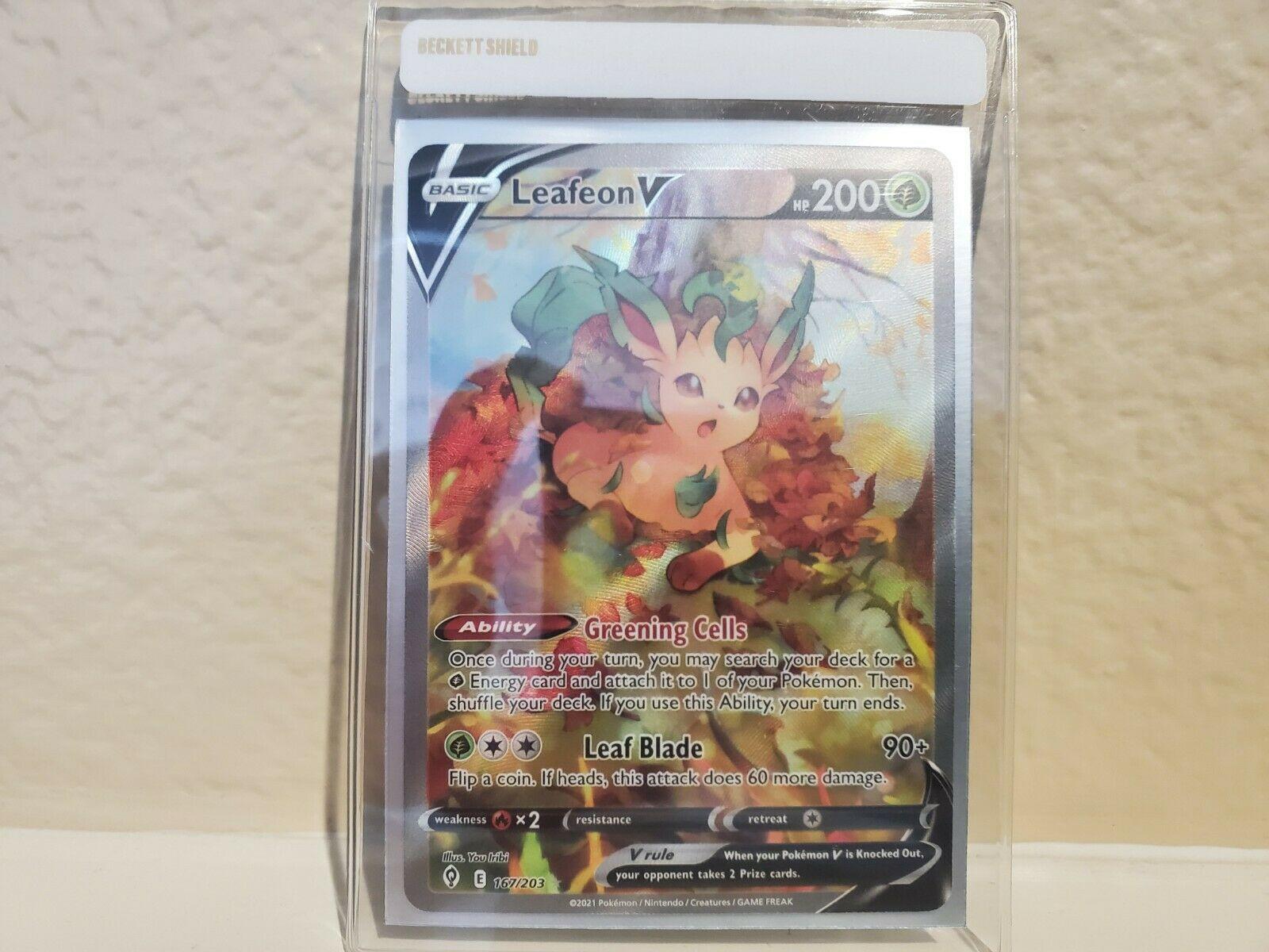 2021 Pokemon Evolving Skies Leafeon V ALT ART. [167/203]. SUPER RARE.
