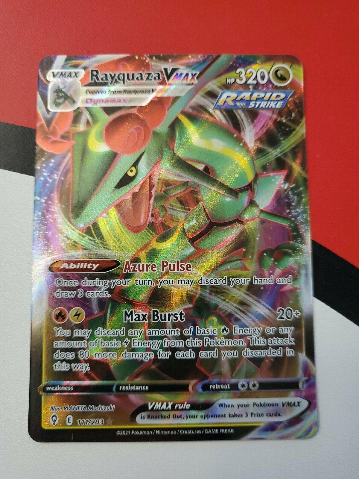 Pokemon - Rayquaza VMax - 111/203 - Ultra Rare - Evolving Skies - NM/M - New