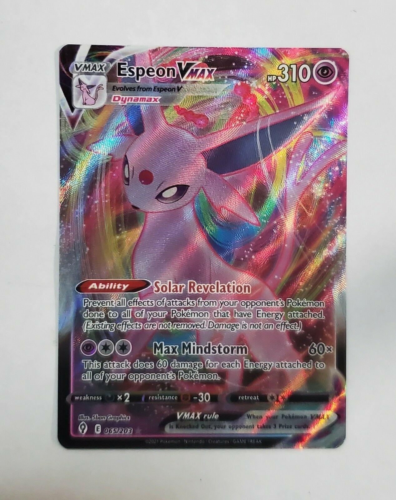 Espeon Vmax 065/203 Evolving Skies Full Art Ultra Rare Pokemon Card NM