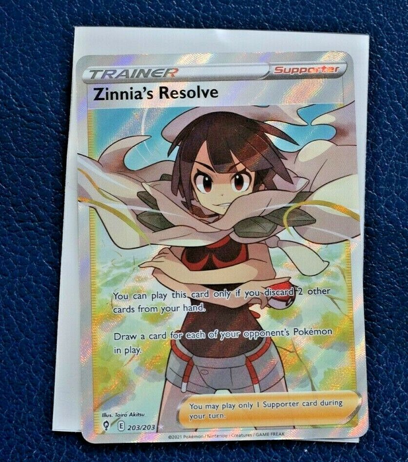 Zinnia's Resolve 203/203 Full Art Trainer Ultra Rare Evolving Skies - NM
