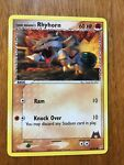 Pokemon Card Team Magma's Rhyhorn 68/95 Near Mint Never Played