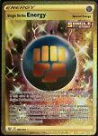 Single Strike Energy 183/163 Gold Secret Rare NM Battle Styles Pokemon TCG