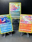 Pokemon Shining Fates Amazing Rare Set Reshiram 017/072, Kyogre 021, Yvetal 046