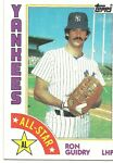 1984 Topps Ron Guidry AS #406 Yankees 25024