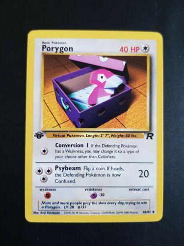 PORYGON 48//82-1st Edition Non Holo Rare Team Rocket Set Pokemon NM X5