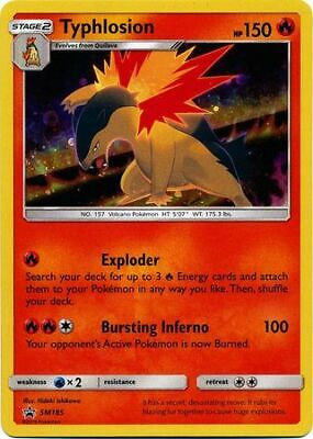 TYPHLOSION Pokemon card SM185 x4 Holo Rare Black Star Promo Unbroken Bonds MINT