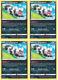 4X Galarian Zigzagoon 117/202 Pokemon Cards Playset Sword & Shield NM / Mint