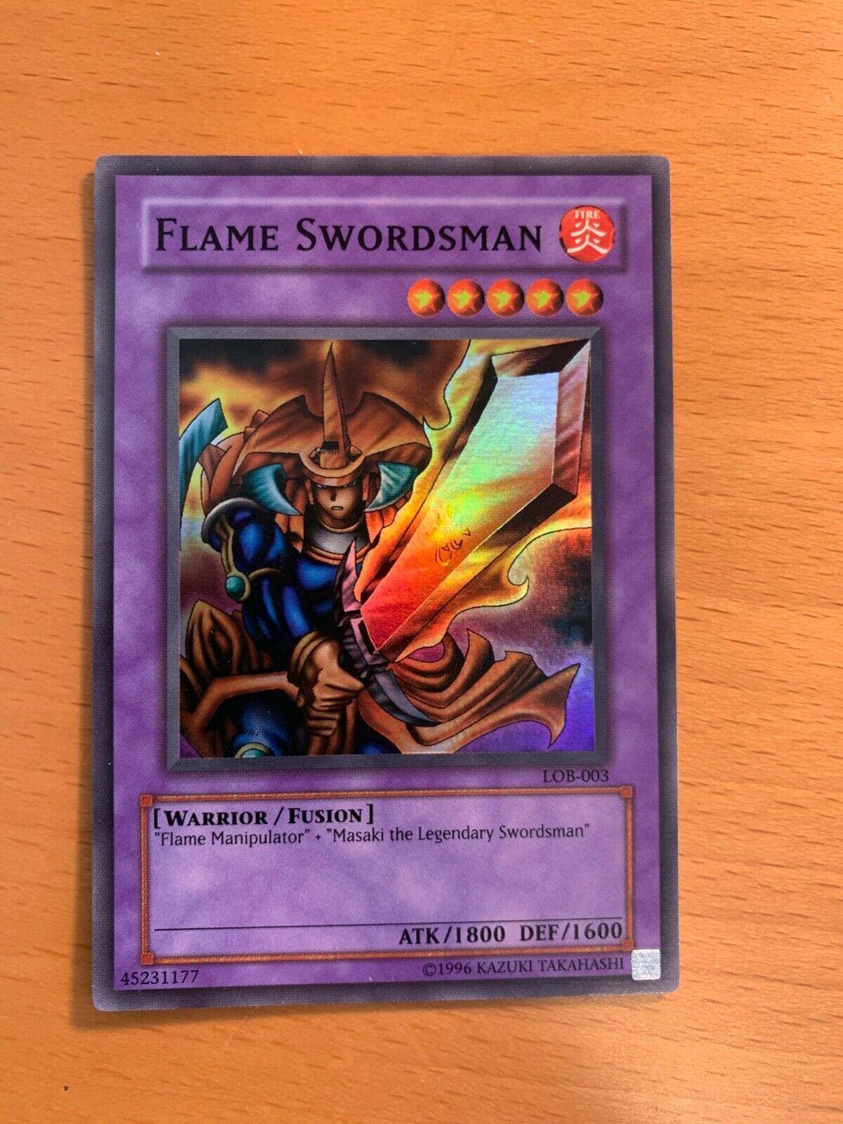 Flame Swordsman LOB-K003 Super Rare Korean OCG YuGiOh Card