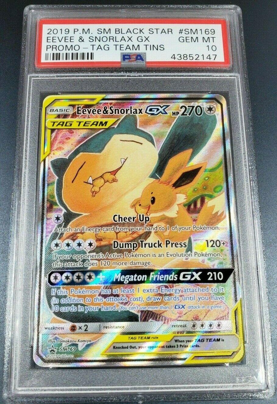 Pokemon Card Eevee /& Snorlax GX 297//SM-P PROMO PROMO Japanese Unused