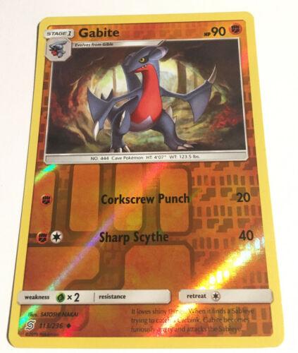 - NM Uncommon Pokemon Card 2019 Unified Minds Set Gabite 113//236