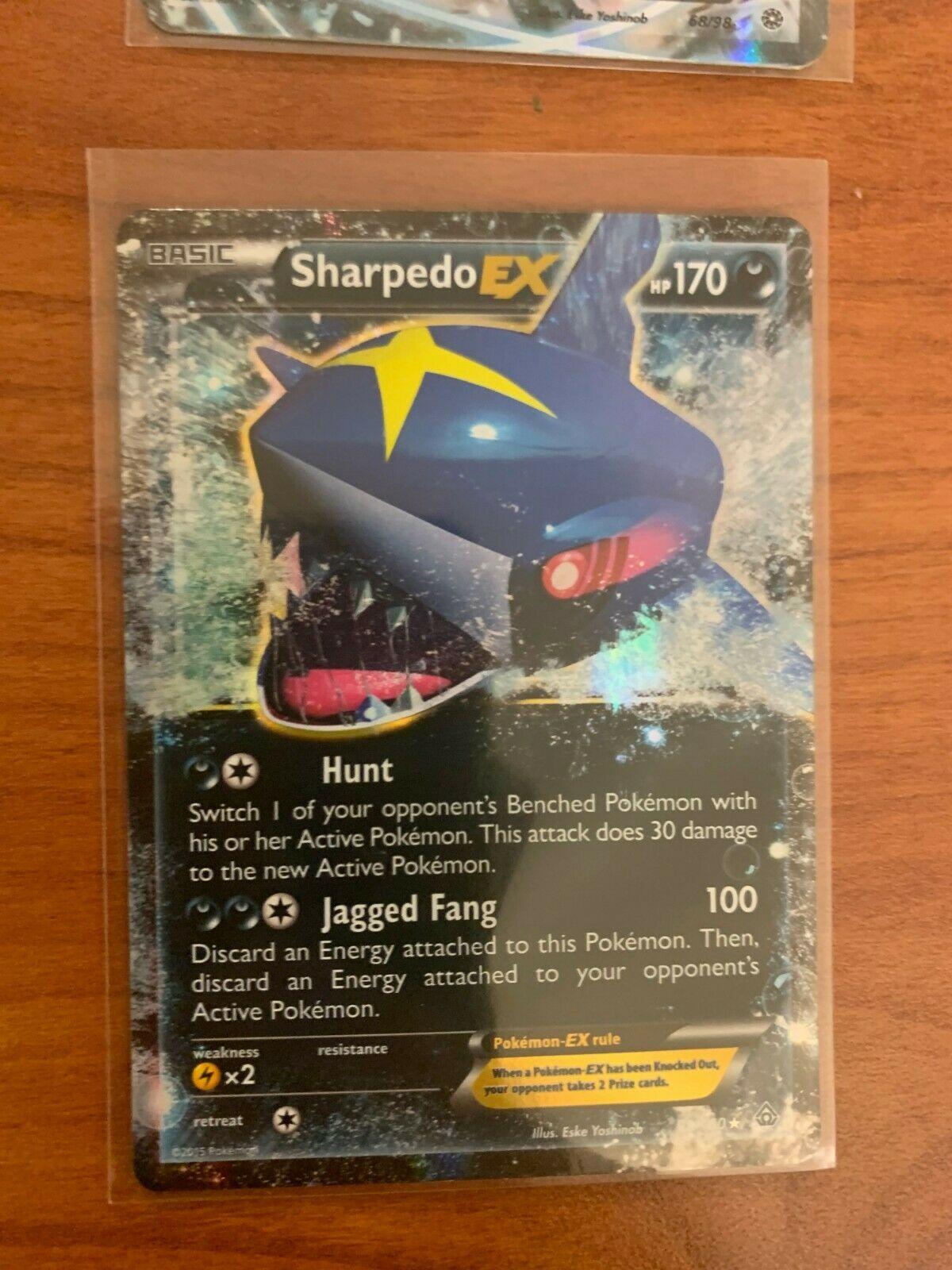 POKEMON! Sharpedo EX 91/160 - Primal Clash NM/M Condition Card