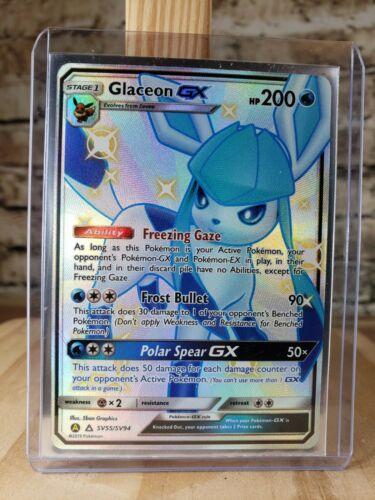 Shiny Holo Rare Hidden Fates Shiny Vault Near Mint Glaceon GX SV55//SV94