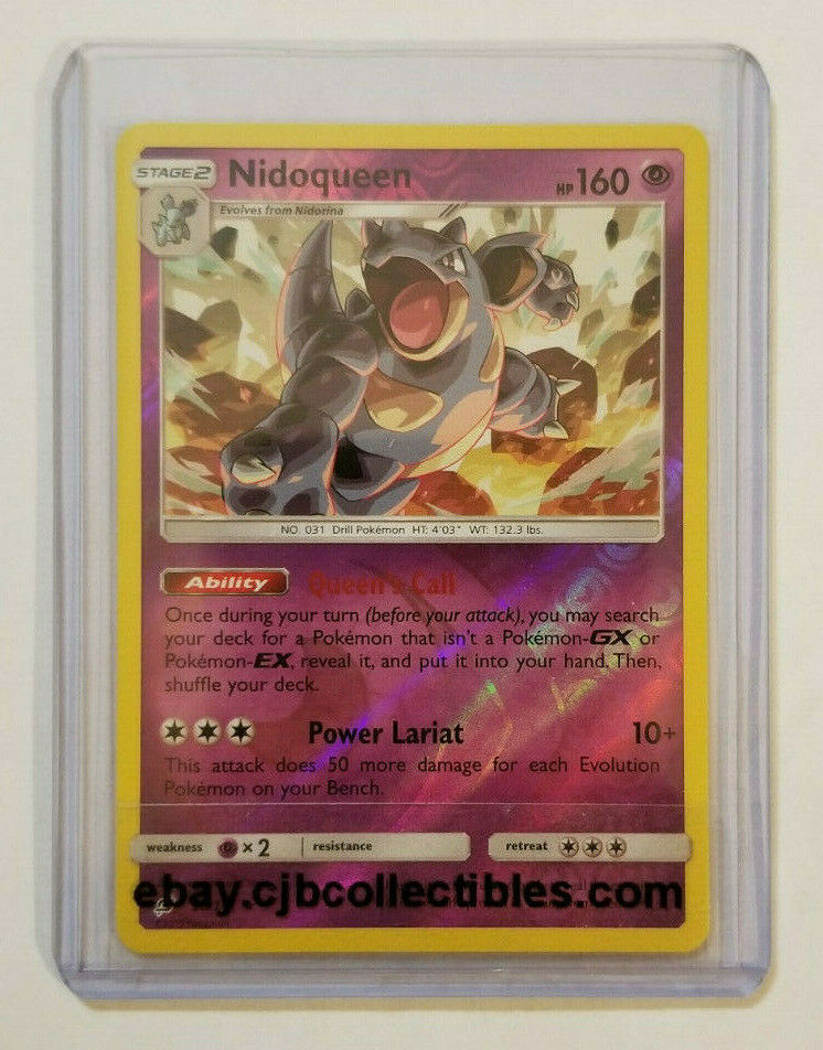 Pokemon NIDOQUEEN 56/181 Reverse Holo Rare SM - Team Up - Near Mint Condition