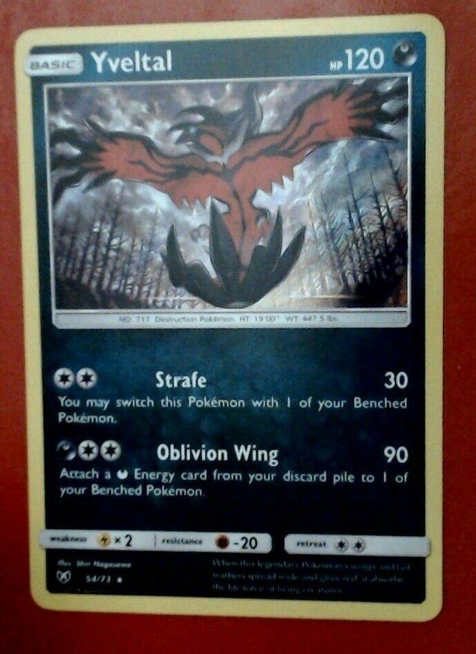 Yveltal 54//73 SM Shining Legends Rare Holo Pokemon Card NEAR MINT