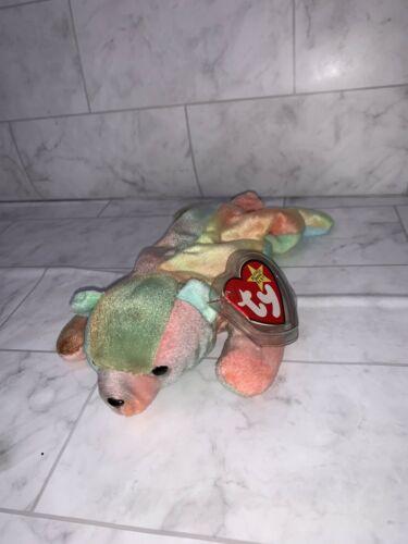 Rare Sammy the Bear Ty Beanie Baby 1998 with Error Tag