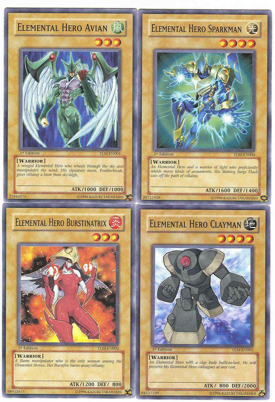 Common Unlimited Edition LP YuGiO TLM-EN002 1x Elemental Hero Burstinatrix