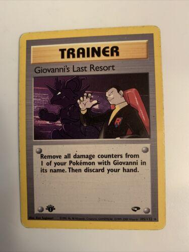 Giovanni/'s Last Resort Near Mint 1st Edition Normal Gym Challenge