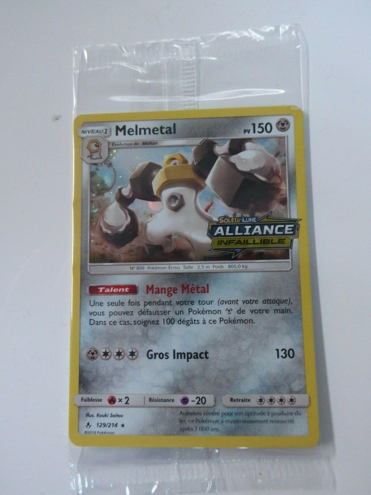 Carte POKEMON - Melmétal Melmetal 129/214 Alliance Infaillible - FR